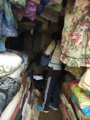 distributing-questionnaires-in-a-second-hand-shop